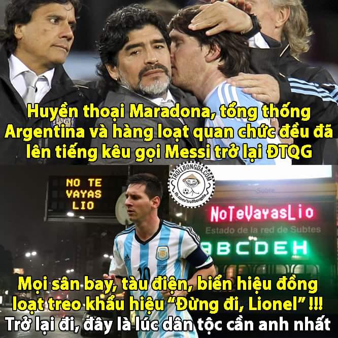 Mạnh mẽ lên, làm lại từ đầu nào Messi. Cả dân tộc Argentina cần anh, NHM cần anh. Mạnh mẽ lên !!!...