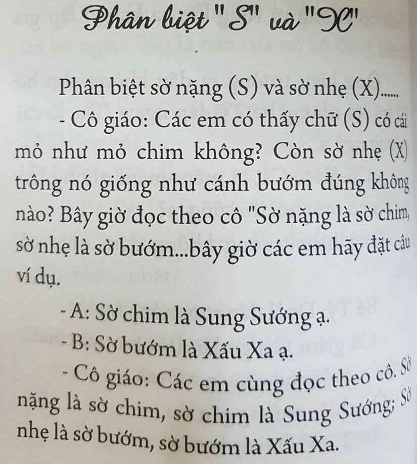 Có cả quả sách dạy phân biệt S và X thế này cơ đấy :v #hoibamlike #s