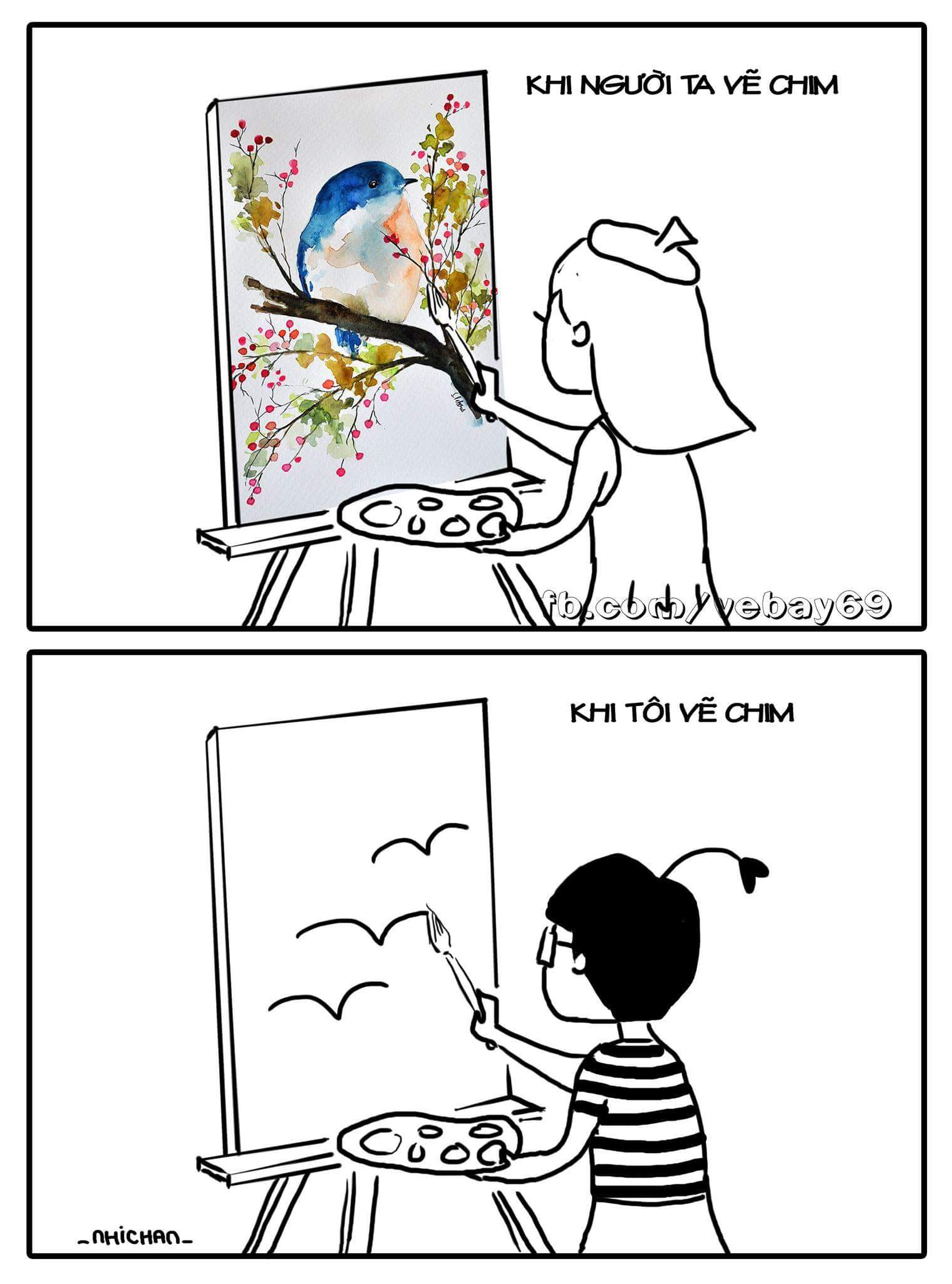 Có ai vẽ chim đẹp hơn không? :3