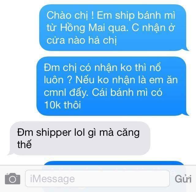 Shipper cũng có sung sướng gì đâu. :(