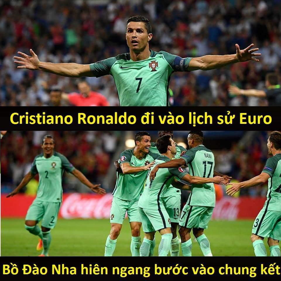 HẾT GIỜ: Bồ Đào Nha 2-0 Wales Ronaldo 1-0 G.Bale  Tấm vé đầu tiên của trận chung kết đã có...