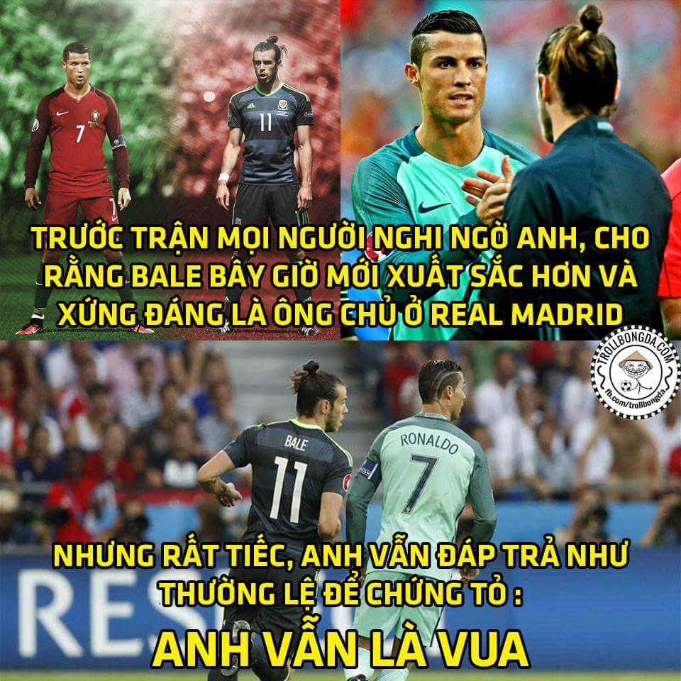 Bale rất tốt, nhưng ở khoản cân team thì cần học đàn anh Ronaldo vài năm nữa nhá...