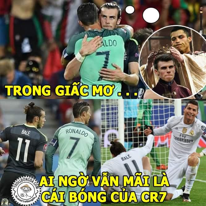 5 trận gặp Rô - thua cả 5.  Gareth Bale rất tốt nhưng ông hoàng thì phải là CR7....