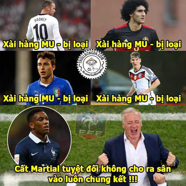 Dùng hàng MU nghe vẻ nhọ nhể. Nghi Martial bị đuổi khỏi tuyển Pháp trước trận chung kết quá...