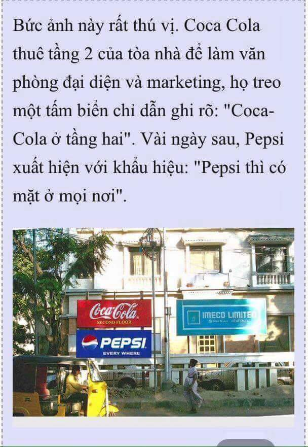 Coca vs Pepsi Bạn chọn