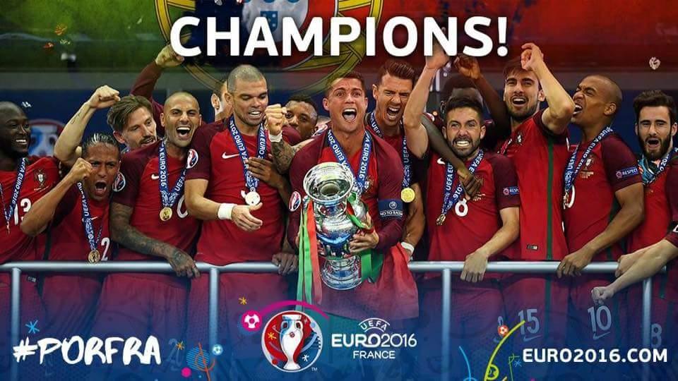 Chúc mừng Bồ Đào Nha đã trở thành nhà vô địch Châu
