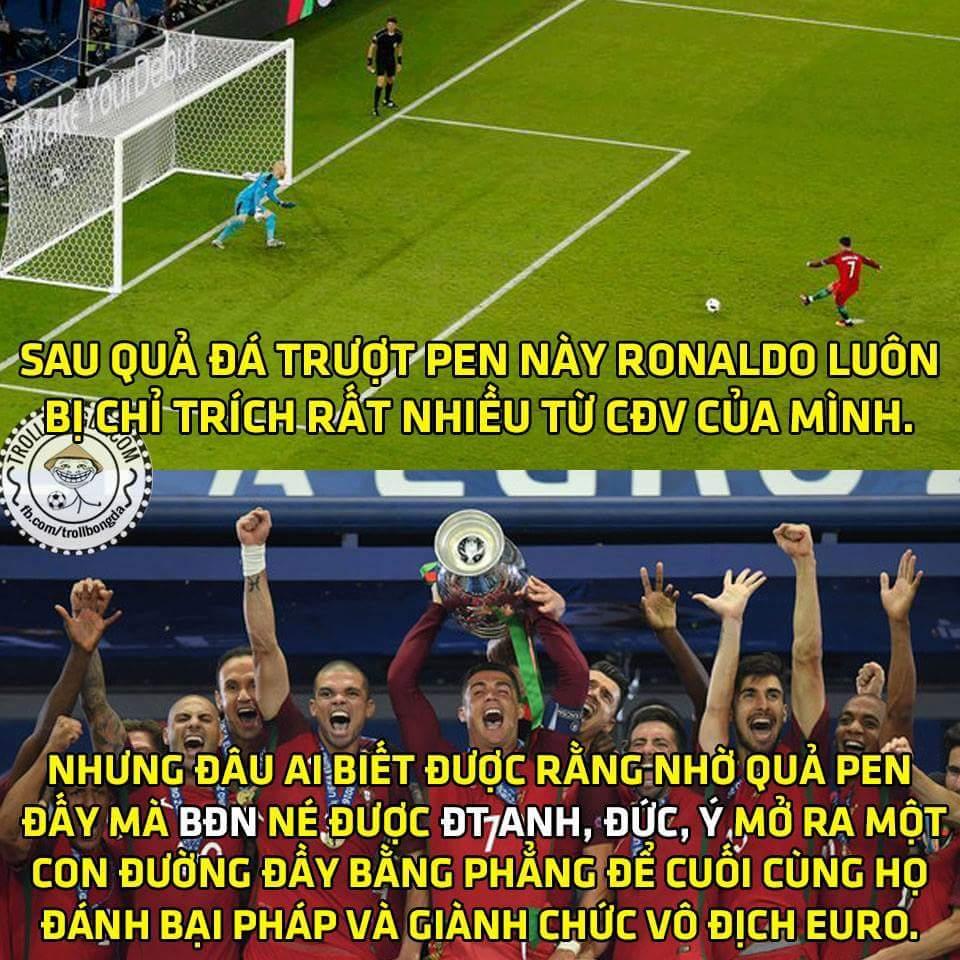 Anh chi phối cả giải đấu rồi, nói mà các chú không tin cơ. :3 #Ronaldo #Euro2016  - Cường Trần...