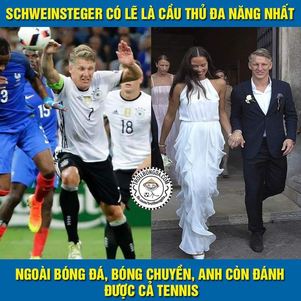 Troll tí thôi...chúc mừng Bastian Schweinsteger lấy được cô hoa khôi làng quần vợt Ana Ivanovic...