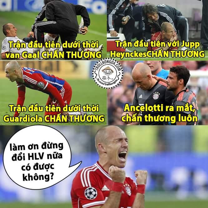 Tội cho ông thần Robben, đôi chân pha lê quả không sai mà
