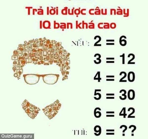 Nếu bạn trả lời đc câu này thì iq của bạn quá cao