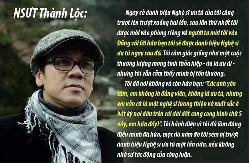 Tôi thích anh Thành Lộc ở tính khẳng khái pha chút hóm hỉnh nhưng trí thức, biểu hiện sự đa...