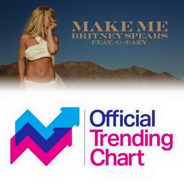 Make Me debuts at No. 6 on UKs Official Trending
