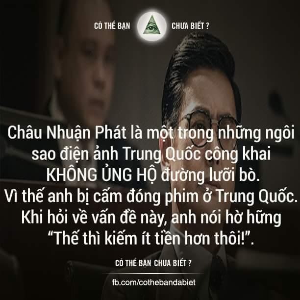 Nguyên nhân ngôi sao điện ảnh Châu Nhuận Phát bị cấm đóng phim ở Trung Quốc là vì anh cùng các...