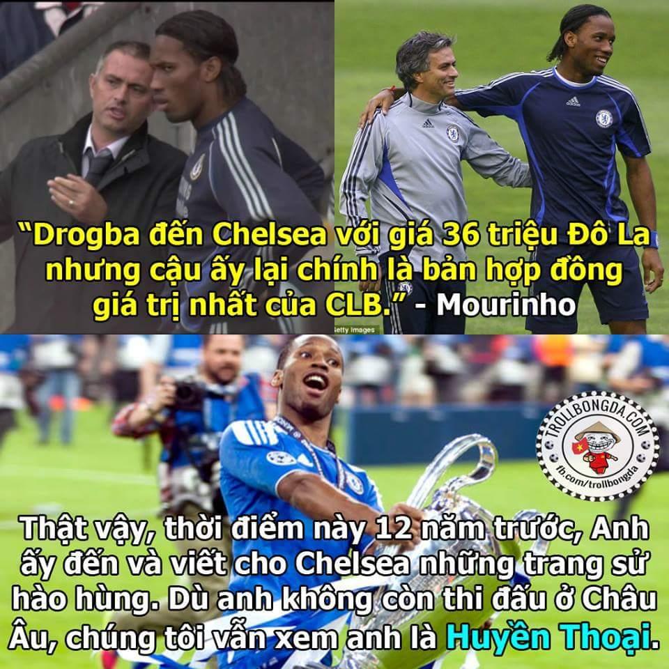 Tròn 12 năm Mourinho mang về một con quái vật, CĐV Chelsea vẫn luôn nhớ anh - KING DROGBA...