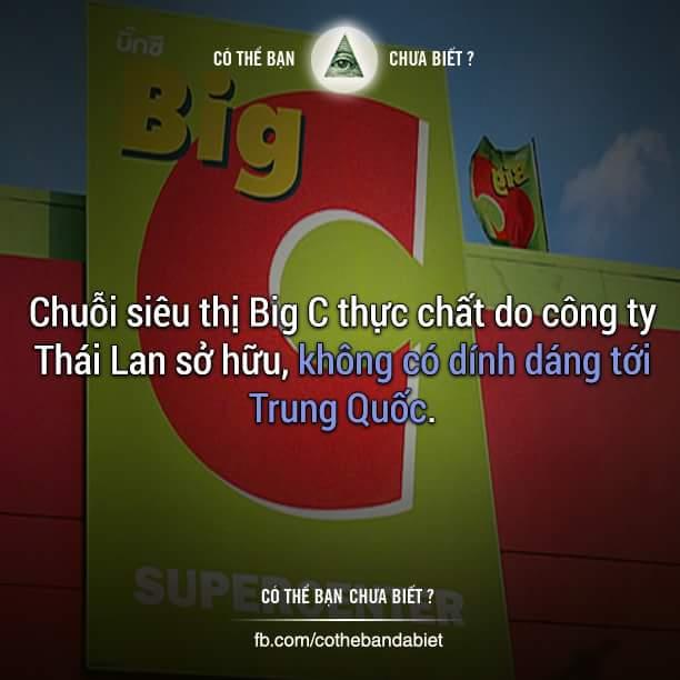 Chất lượng thế nào thì mình không biết, tuy nhiên Big C được sở hữu bởi Central Group là một...
