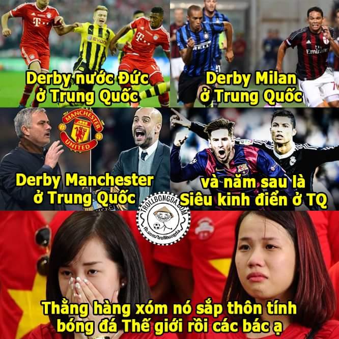 Hết ông lớn này tới đội bóng nọ qua Trung Quốc đá giao hữu nhìn mà thèm, bao giờ mới có đại...