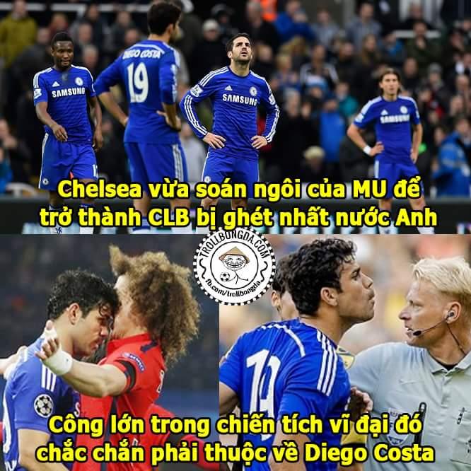 Costa mang về danh hiệu đầu tiên cho Chelsea trong mùa giải mới, mừng quá...