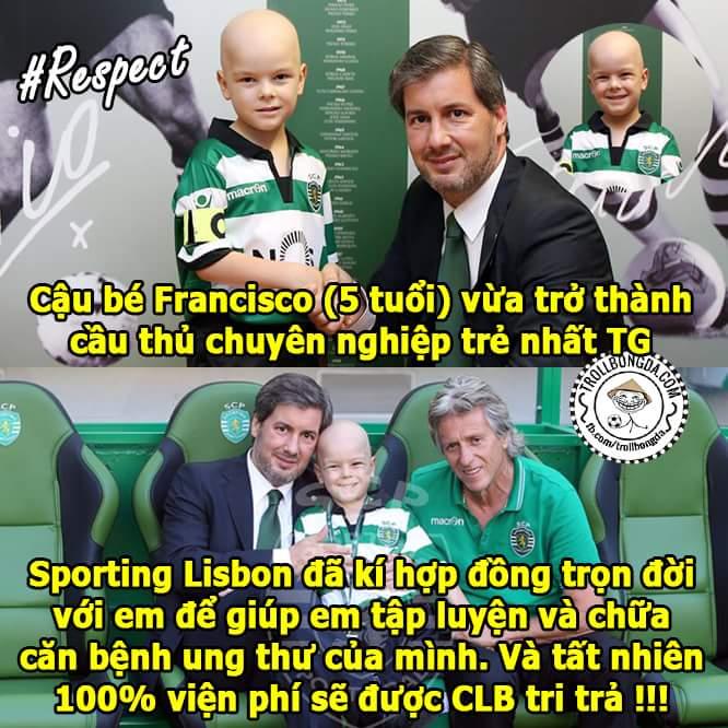 Nghĩa cử cao đẹp của CLB Sporting Lisbon