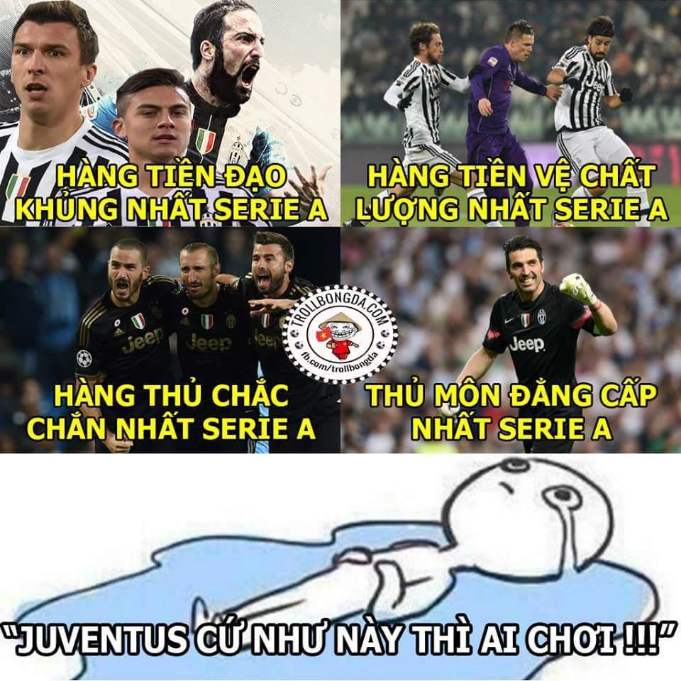 Câu hỏi đặt ra bây giờ là không biết Juventus sẽ vô địch...sớm 5 hay 6 vòng đây :)))))  .Hoài...