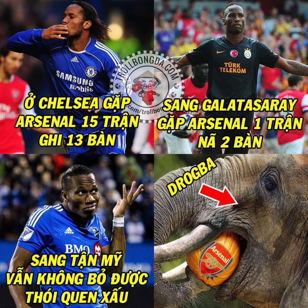 #Drogba lại xé lưới #Arsenal trong trận giao hữu tại Mỹ. Hung thần thì vẫn là hung thần thôi....