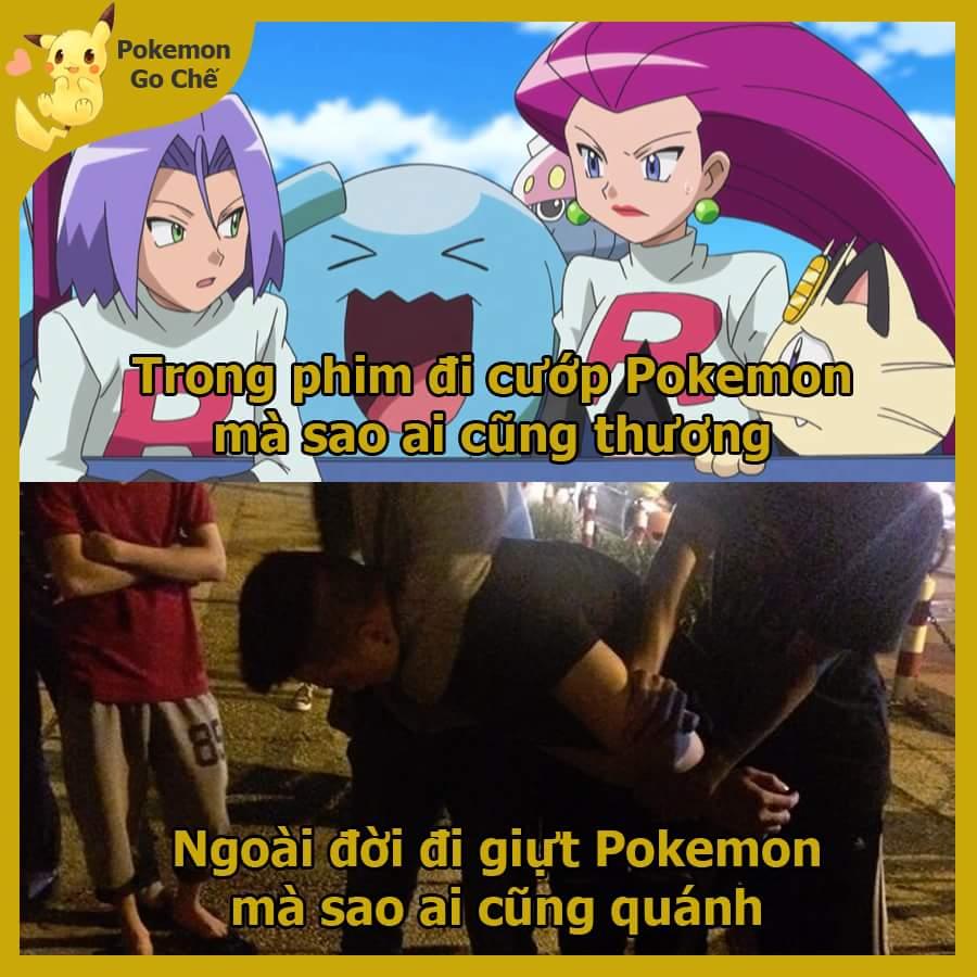 Tội nghiệp thanh niên giả danh team Rocket =)))))  Nguồn: Pokémon GO