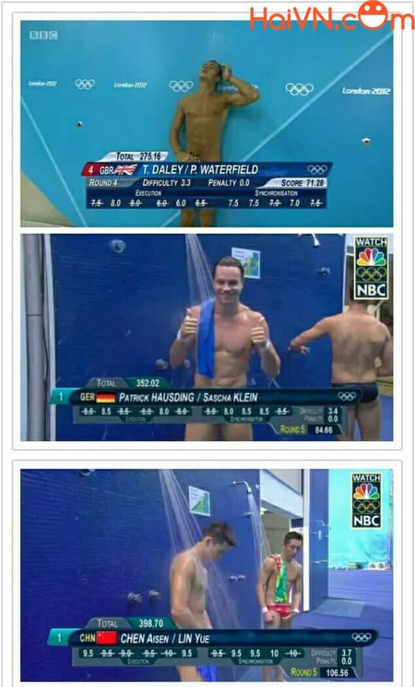 Mấy cha vận động viên bơi lội này lên tv không thích mặc quần hay sao ấy nhỉ =))...