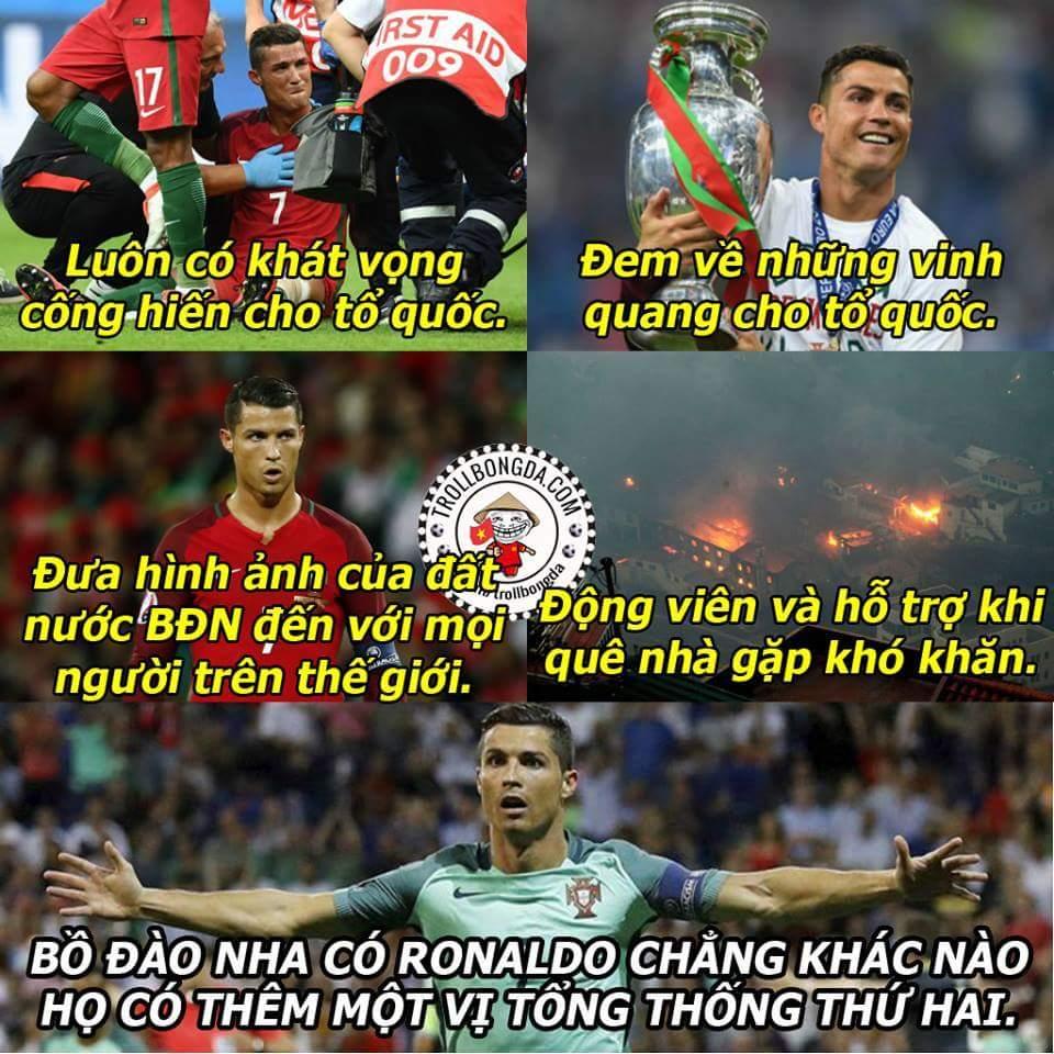 Ronaldo là một người công dân yêu tổ quốc, anh luôn giành những điều tốt đẹp nhất cho quê...