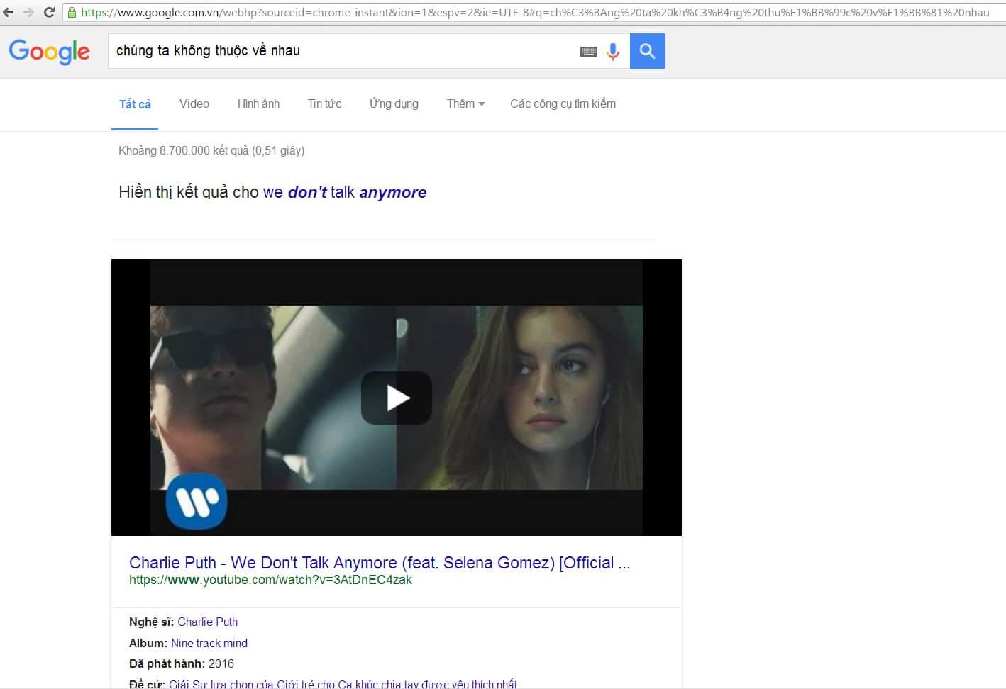Google giờ siêu thật :v Biết cả định tìm bài gì =))  #hoibamlike #chungtakhongthuocvenhau...