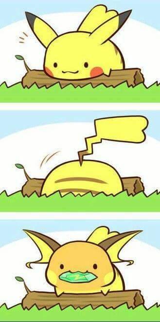 Pika-chu tiến hoá. :v