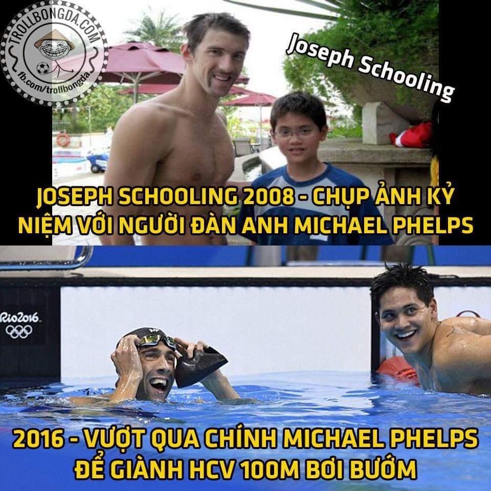 Đánh bại người cá Michael Phelps luôn, chú em sau này dự sẽ bá lắm đây :v ...