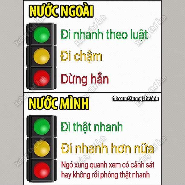 Ý nghĩa của đèn giao thông