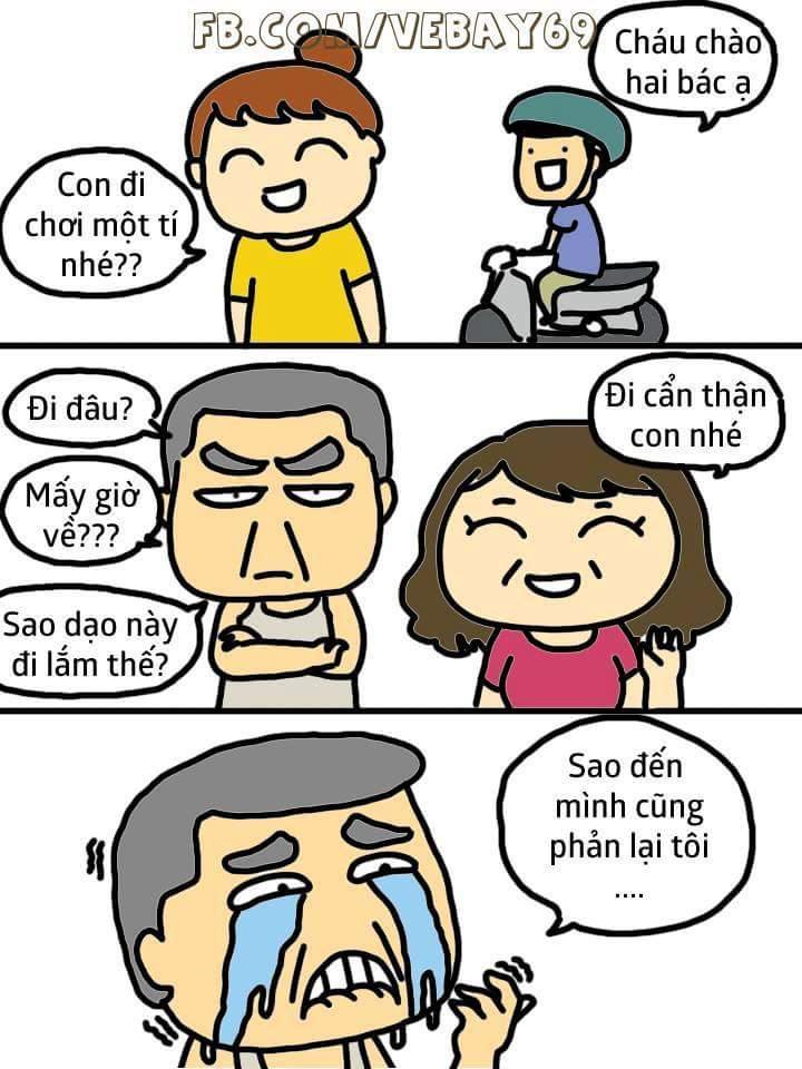 Khi con gái của bố có người yêu. :3  #Méo | Nguồn: Vẽ