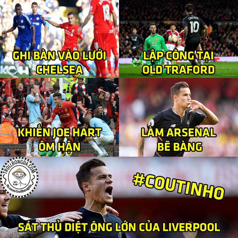 Coutinho có 2 sở thích rất đặc biệt: là thích ghi bàn vào lưới ông lớn và đã ghi là phải ghi...