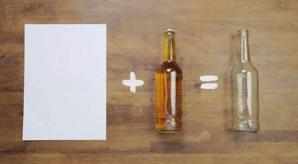 Cách mở nắp chai chỉ bằng 1 tờ