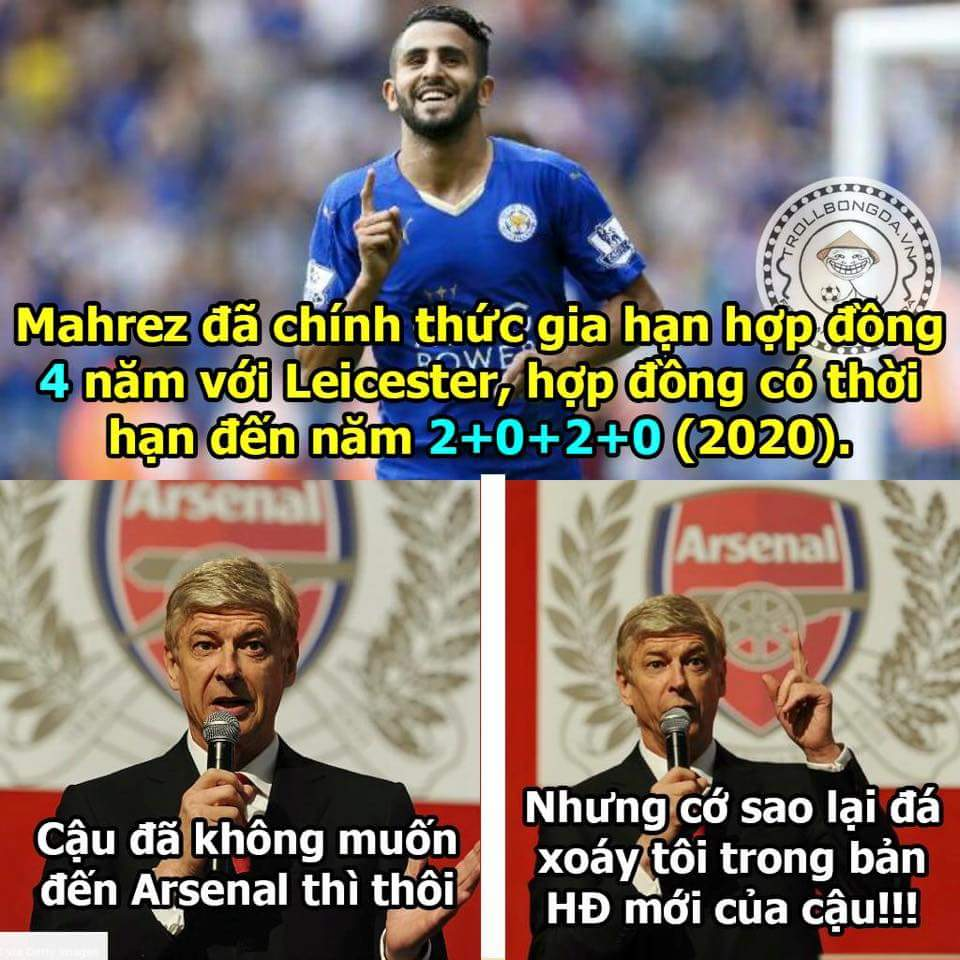 Thà ở lại trụ hạng cùng Leicester còn hơn là tới Arsenal :v