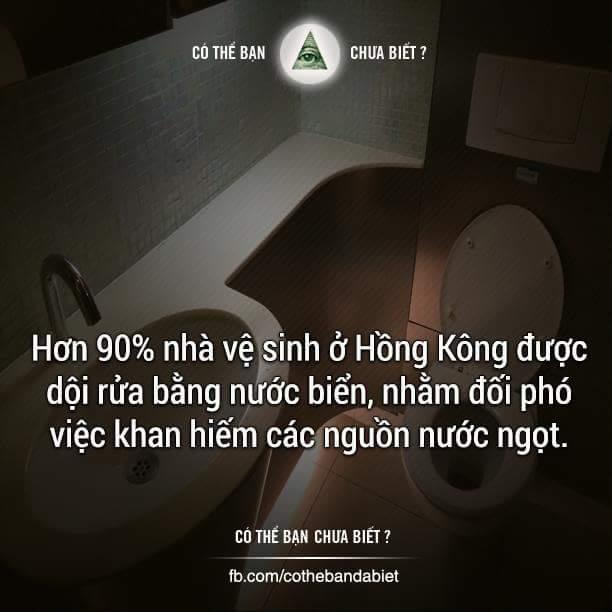 Hồng Kông đang sử dụng một cách tích cực nước biển để dội rửa nhà vệ sinh trên phạm vi cả...