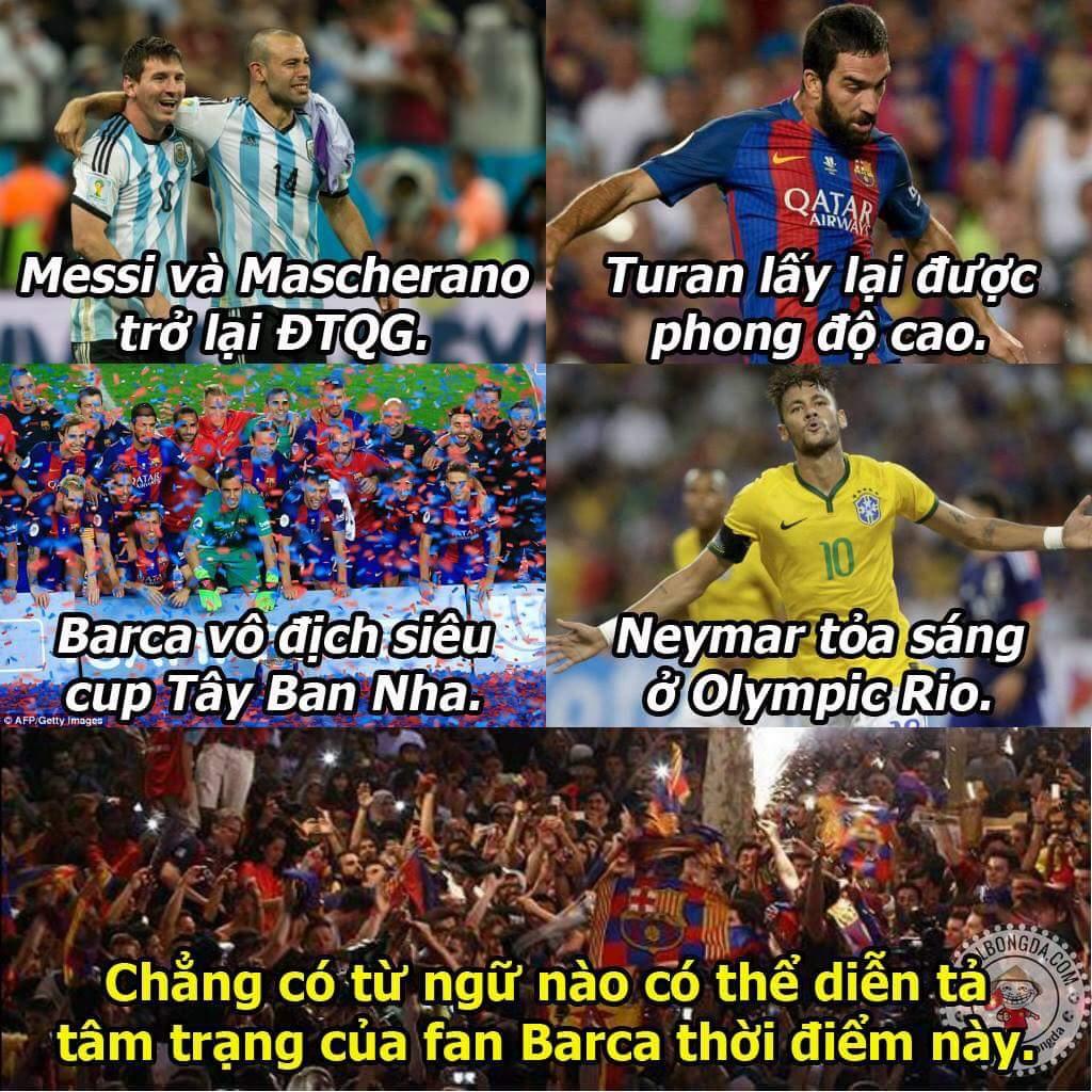 Mùa giải mới chắc chắn sẽ rất gay cấn đây. Cho tôi thấy cánh tay của ae fan Barca nào :)))) ...