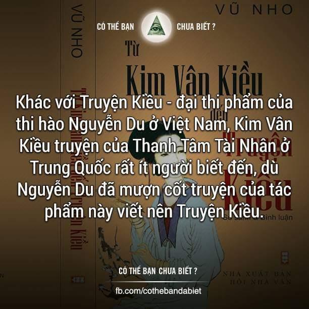 Điều mà có lẽ ít ai biết đến... :D  ---------------------------------------  Kim Vân Kiều...