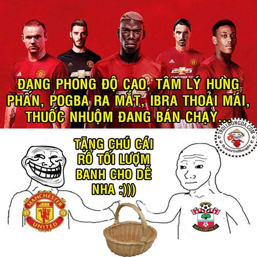 2h đêm nay Man Utd chiến Southampton. nhọ cho Liverpool cơ sở 2 rồi