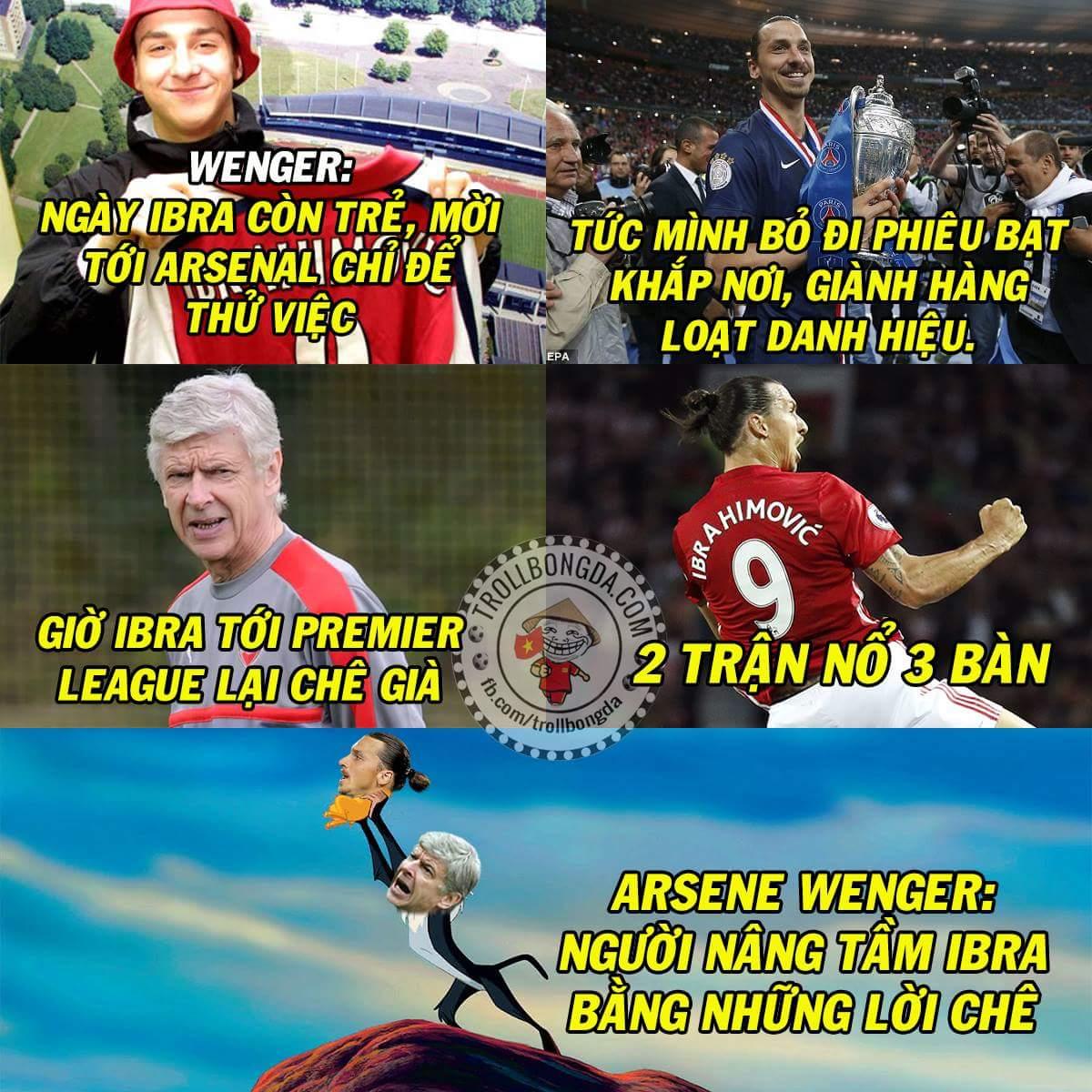 Động lực tiến xa của Ibra là đây sao ? :v  #Wenger
