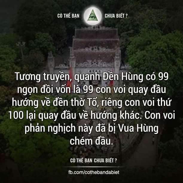 Đền các vua Hùng được xây dựng trên một quả núi, có độ cao trên 100 mét. Muốn đi tới đền...