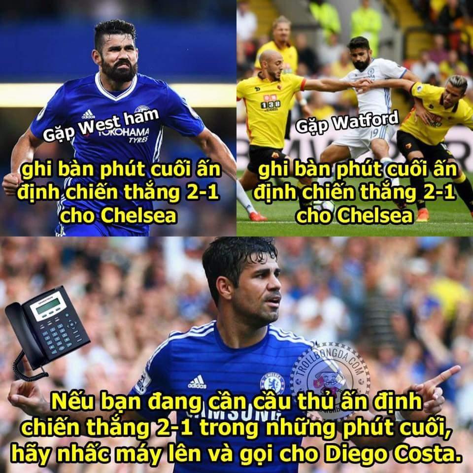 Xin hãy gọi anh là Thánh Phút Cuối - Diego Costa !!!