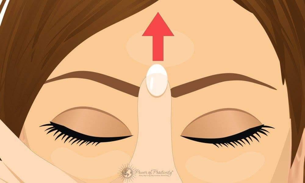 Điều kỳ diệu sẽ xảy ra nếu bạn massage điểm này trên trán  Chúng ta có thói quen khi đau đầu...