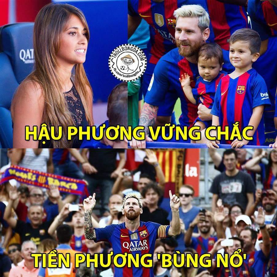 2 bàn 1 kiến tạo, đã quá Messi ơi