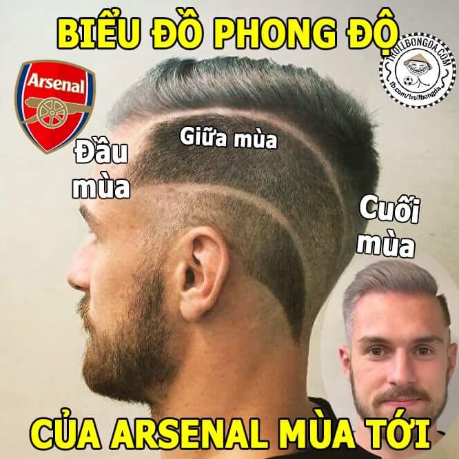 Tóc mới của Ramsey, trùng hợp quá