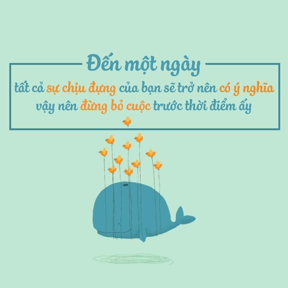 Đến một ngày, tất cả sự chịu đựng của bạn sẽ trở nên có ý nghĩa, đừng bỏ cuộc trước thời điểm...