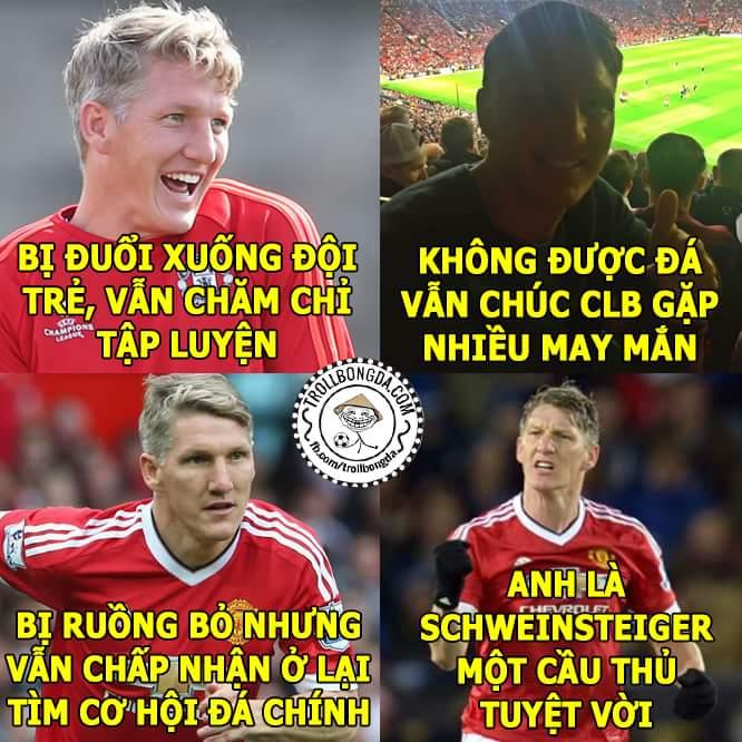 Hiếm có cầu thủ nào chuyên nghiệp được như Bastian Schweinsteiger, thật sự khâm phục anh...