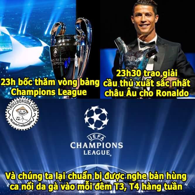 Champions League chuẩn bị khởi tranh rồi bà con