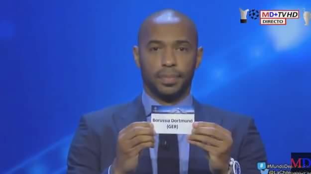 Có những biến đầu tiên rồi ae ơi...........bàn tay của Henry đã đưa Real đụng Dortmund ngay...