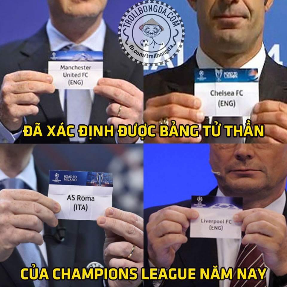Xin giới thiệu với mọi người bảng Z, bảng tử thần của #Championsleague năm nay...